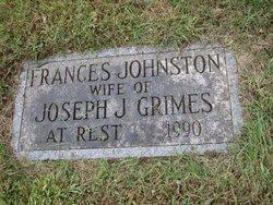 Frances <I>Johnston</I> Grimes