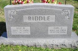 Ocie A <I>Wright</I> Riddle