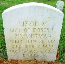 Lizzie M <I>Shirk</I> Zimmerman