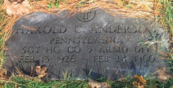Harold C Anderson