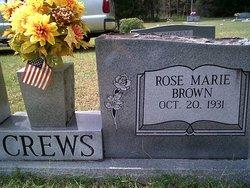 Rose Marie <I>Brown</I> Crews