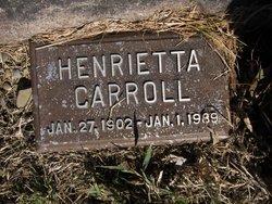 Henrietta <I>Schneider</I> Carroll