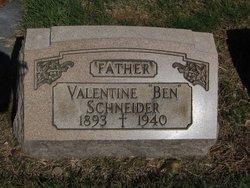 """Valentine """"Ben"""" Schneider"""