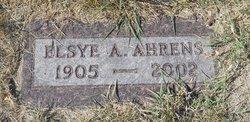 Elsye A. <I>Budack</I> Ahrens