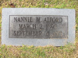Nannie May <I>Goodwin</I> Alford