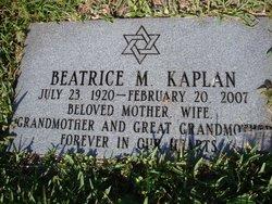 Beatrice M Kaplan