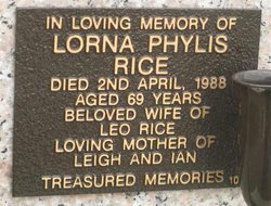 Lorna Phylis Rice