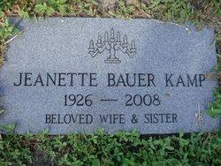 Jeanette <I>Bauer</I> Kamp