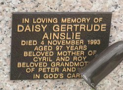 Daisy Gertrude Ainslie
