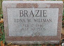 Edna M. <I>Willman</I> Brazie