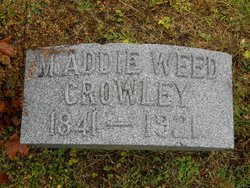 """Maddie Adelaide """"Addie"""" <I>Weed</I> Crowley"""