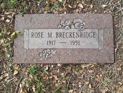 Rose M <I>Piano</I> Breckenridge