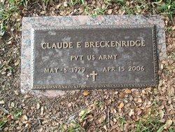 Claude E Breckenridge