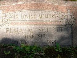 Elma M <I>Hartsig</I> Schott