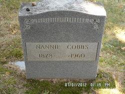 "Nancy Ventura ""Nannie"" Cobbs"
