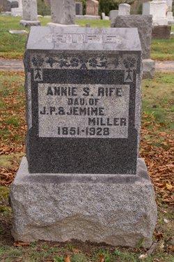 Annie S <I>Miller</I> Rife