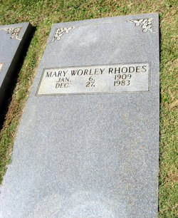 Mary <I>Worley</I> Rhodes