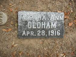 Martha Ann Oldham