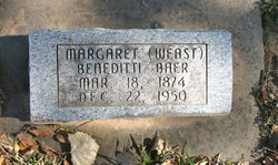 Margaret Beneditti <I>Weast</I> Baer