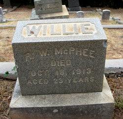 "Rubin William ""Willie"" McPhee"
