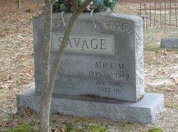 Alice Margaret <I>West</I> Savage
