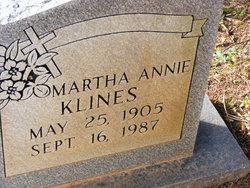 Martha Annie <I>Murphy</I> Klines