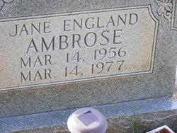 Jane <I>England</I> Ambrose
