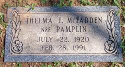 Thelma Ernestine <I>Pamplin</I> McFadden