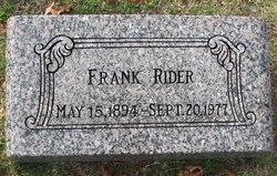 """Charles Francis """"Frank"""" Rider"""