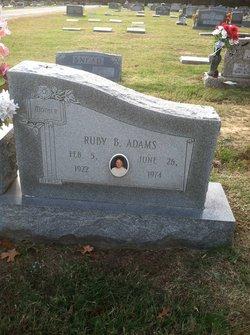 Ruby B. Adams