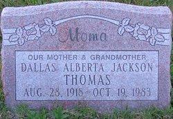 Dallas Alberta <I>Jackson</I> Thomas