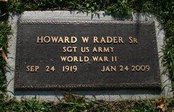 Howard W. Rader, Sr