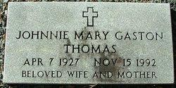 Johnnie Mary <I>Gaston</I> Thomas