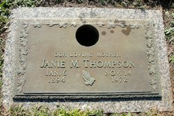 "Mallie Jane ""Janie"" <I>Mayfield</I> Thompson"