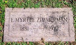 Emma Myrtle <I>Bown</I> Zimmerman