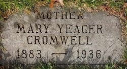 Mary <I>Yeager</I> Cromwell