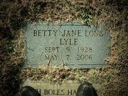 Betty Jane <I>Long</I> Lyle