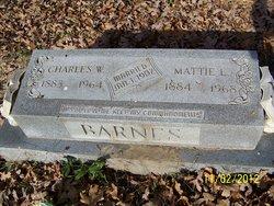 "Martha Lura ""Mattie"" <I>Webster</I> Barnes"