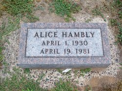 Alice Hambly