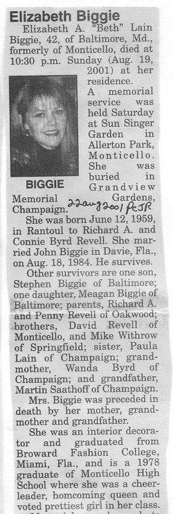 "Elizabeth A. ""Beth"" <I>Revell</I> Biggie"