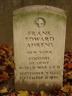 COL Frank Edward Ahrens