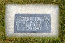"""Caroline """"Carrie"""" <I>Dunn</I> Tomlinson"""