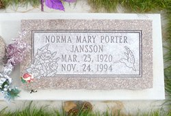 Norma Mary <I>Porter</I> Jansson