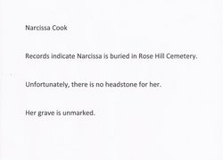 Narcissa <I>Scruggs</I> Cook