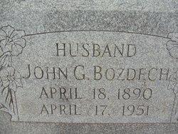 John G Bozdech