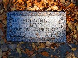 Mary Caroline <I>Goldsby</I> McVey