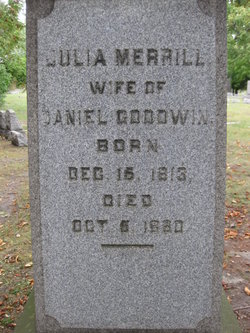 Julia <I>Merrill</I> Goodwin