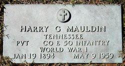 Pvt Harry G Mauldin