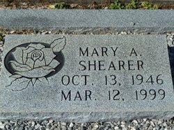 Mary A Shearer