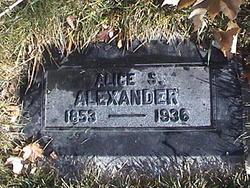Alice <I>Smith</I> Alexander
